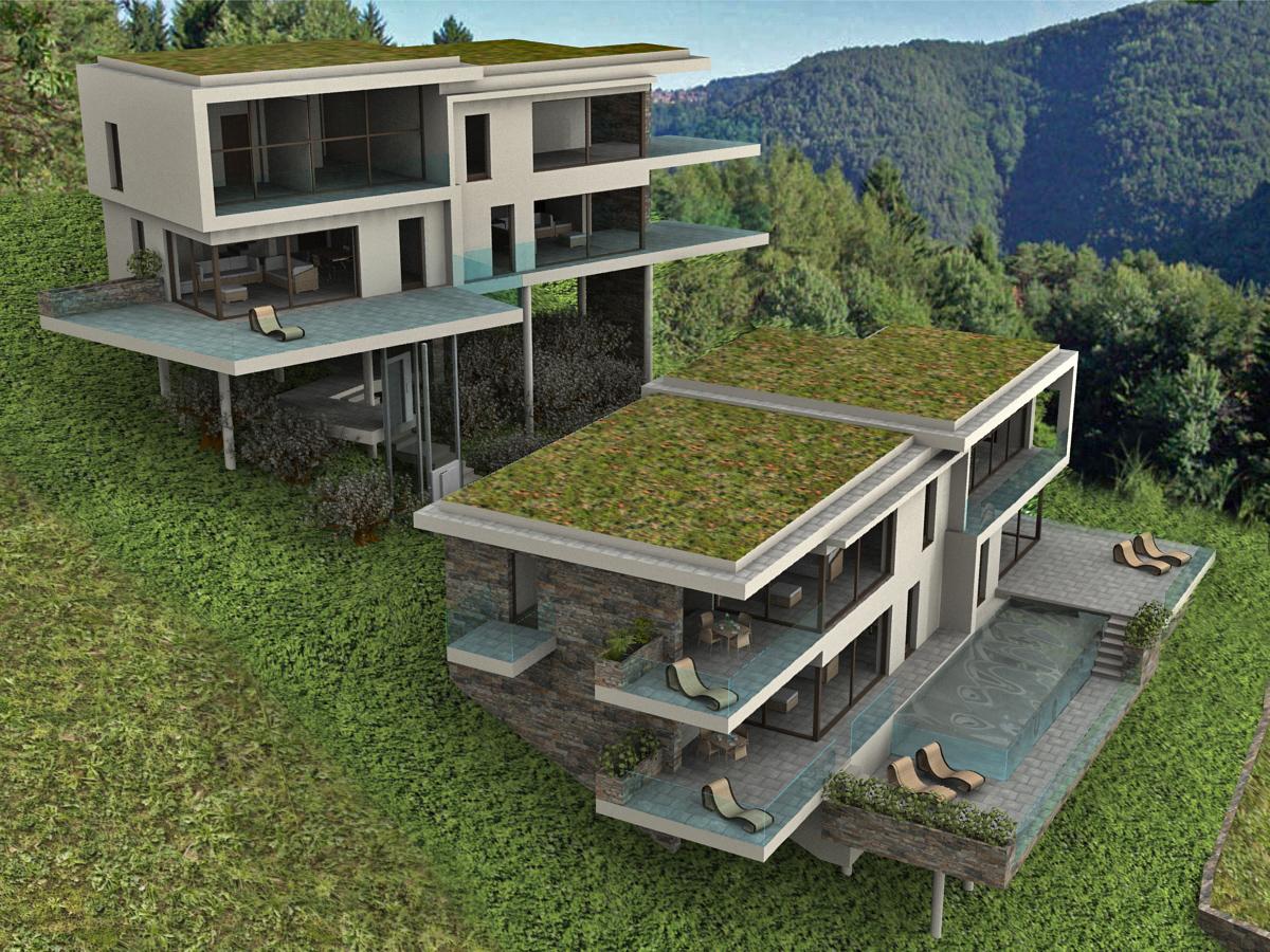 Progetti Esterni Villette : Ville moderne progetti gallery of cheap colori case moderne casa
